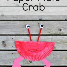 Paper Plate Crab Kid's Craft Idea