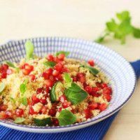 Salada de couscous e romã
