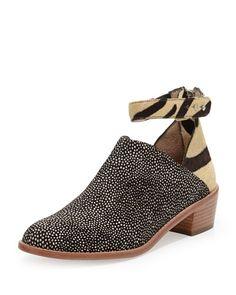 LOEFFLER RANDALL Franca Mixed Calf Hair Bootie. #loefflerrandall #shoes #boots
