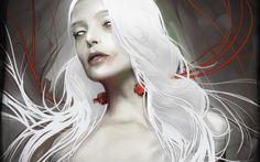 Women Fantasy Art White Hair | hdwallpapera