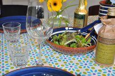 Tafellaken groen/blauw