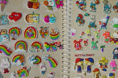 """You had an enviable sticker collection  - including pages dedicated to Scratch-n-sniff and Puffy stickers. (<a href=""""https://www.flickr.com/photos/dogboneart/172823982/sizes/o/in/photostream/"""">Img</a>)"""