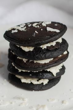 Oreos in pancake form means you can have them for breakfast.