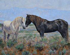 """Desert Sage Greeting"" Oil 24x30 $1,600.00"
