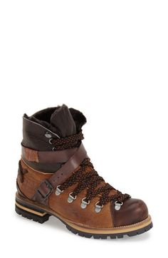 "These are awesome except for the ""genuine goat fur lining"". Free People 'Breakwater' Hiking Boot with Genuine Goat Fur Lining (Women) available at Leather Hiking Boots, Hiking Boots Women, Women's Hiking Boots, Womens Hiking Outfits, Hiking Boots Outfit, Low Heel Ankle Boots, Low Heels, Shoe Boots, Lace Up Booties"