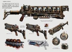 File:Art of Fallout 4 Gauss rifle. Fallout Art, Fallout 4 Concept Art, Fallout 4 Weapons, Fallout 4 Mods, Fallout Cosplay, Sci Fi Weapons, Weapon Concept Art, Fantasy Weapons, Assassin