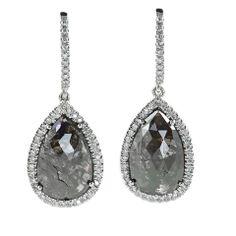 black diamond jewelry | Black Diamond Earrings| Diamonds Jewellery | White Gold
