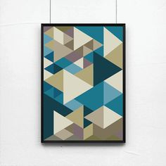Abstract print poster50s print poster retro print by angelaferrara, $26.00