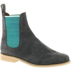 Asos Alibi Suede Chelsea Ankle Boots via Polyvore