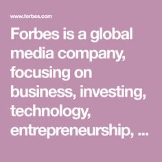 Forbes is a global media company, focusing on business, investing, technology, entrepreneurship, leadership, and lifestyle. Readers Quotes, Disney Shares, Pakistan Today, Stacked Haircuts, Choppy Haircuts, Home Remedy For Cough, Evolution Of Fashion, Entrepreneurship, Peace And Love