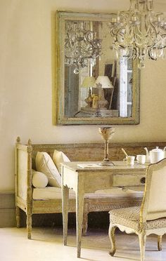 Mixed European antiques. If you live in the country side and love decor, you will find all the tips here. It is a good decor style for bedrooms, living rooms, or dining areas. See more here: http://www.pinterest.com/homedsgnideas