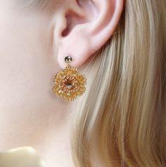 Goldene Rocaillesblüten - Golden Summer love - | Perlotte Schmuck
