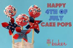 Pint Sized Baker: 4th of July Cake Pops