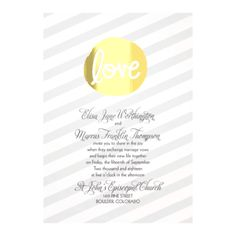 Encircled In Love Foil - Wedding Invitation - Stripes, Foil Medallion at Invitations By David's Bridal