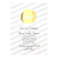 Encircled In Love Foil - Wedding Invitation - Stripes, Foil Medallion at Invitations By David's Bridal