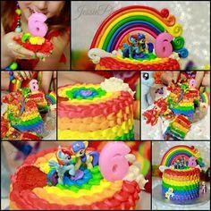 My little pony; Rainbow dash cake smash. Manda's Homemade Cupcakes. Ottawa on.