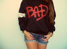 Sweater: bad black red white michael jackson jacket who's bad