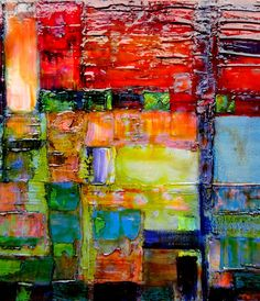 Abstract Art DETAIL - love the colors and the textures in this