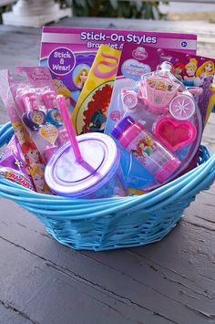 101 easter basket ideas for babies and toddlers that arent candy diy disney princess easter basket easter basket ideaseaster basketskids negle Images