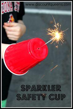 Sparkler Safety Cup  http://www.discountqueens.com/sparkler-safety-cup/