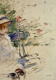1884 - Little Girl in a Garden - Berthe Morisot