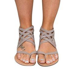 Women Sandals Fashion Gladiator Sandals For Women Summer Shoes Female Flat Sandals Rome Style Cross Tied Sandals Shoes Women 43 Gladiator Sandals, Shoes Sandals, Flat Sandals, Women Sandals, Strappy Sandals, Shoes Women, Sandals Outfit, Boho Sandals, Beach Sandals