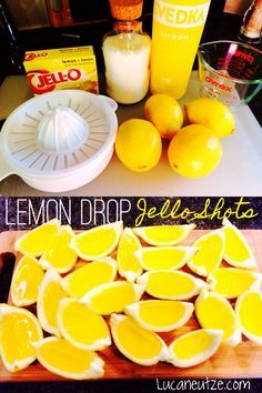 Lemon Drop Jello Shot wedges - These are so easy and so addicting...have fun!