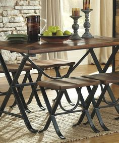Another great find on #zulily! Medium Brown Freimore Five-Piece Table Set #zulilyfinds