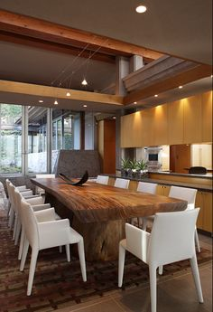 Modern Rustic Dining Room Table what a gorgeous piece of wood turned into great dining room table