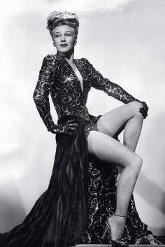 Ginger Rogers in a publicity pose for LADY IN THE DARK (1944), wearing what was, at that time, the most expensive film costume ever designed … courtesy of Edith Head.