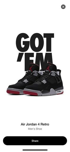 low priced 8d2a1 4efd3 EARLY nike air jordan retro 4 bred SIZE 13  fashion  clothing  shoes