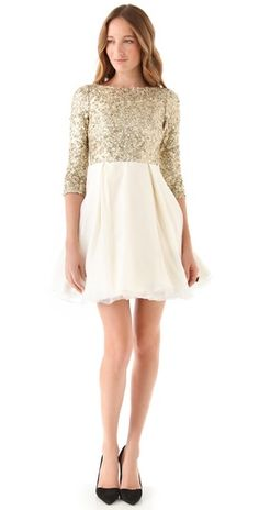 alice + olivia Azala sequined dress. 25% off at shopbop.com. Ummm... this is to die for.