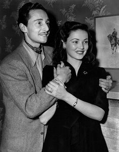 Gene Tierney and her husband Count Oleg.