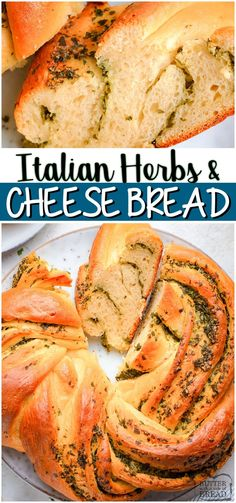 Italian Herbs & Cheese Bread is a soft, easy to make homemade bread bursting with fresh flavors! Herbs and cheese combine in this incredible savory bread recipe. #bread #herbs #cheese #baking #homemade #cheesebread #easyrecipe from BUTTER WITH A SIDE OF BREAD Savory Bread Recipe, Best Bread Recipe, Bread Recipes, Chicken Recipes, Muffin Recipes, Fall Recipes, Dinner Recipes, Top Recipes, Delicious Recipes