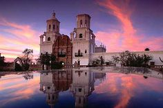 Mission San Xavier, known as the White Dove of the Desert, was founded in 1692. This beautiful mission appears to magically rise from the desert floor just outside of the Santa Cruz River. | The Westin La Paloma Resort & Spa