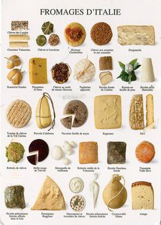 poster of tasty Italian cheeses