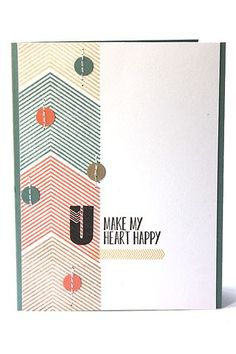 Heart Happy Card by Heather Nichols for Papertrey Ink (June 2013)