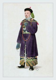 Traditional Chinese Mandarin costume.
