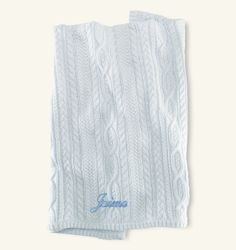 Cabled Cotton Blanket