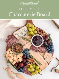 Impress your friends and family with this beautiful charcuterie board that you can make right at home. Types Of Cheese, Milk And Cheese, Olive Spread, Roast Turkey Breast, Easy Entertaining, Roasted Turkey, Charcuterie Board, Fresh Herbs, Fruit