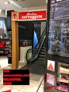 Conspicuous Sign Direct u to the Gift Store at every level of the Mall   Myer - Home  Gifts Ideas Mall Melbourne Retail