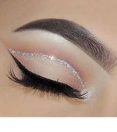 50 Flawless Silver Eye Makeup Looks You Need To Try Loading. 50 Flawless Silver Eye Makeup Looks You Need To Try Silver Eye Makeup, Glam Makeup, Makeup Inspo, Fancy Makeup, Makeup Goals, Makeup For Party, Makeup For Silver Dress, Makeup With Black Dress, Sweet 16 Makeup