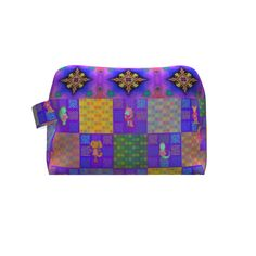 Grainline Studio Portside Dopp Kit made with Spoonflower designs on Sprout Patterns. Cute animal on checkerboard. Diy Bags Purses, Dopp Kit, Beautiful Bags, Spoonflower, Kids Fashion, Cute Animals, Patterns, Studio, Sewing