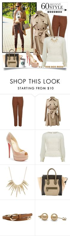 """60-Second Style: Tech Job Interview"" by annabu ❤ liked on Polyvore featuring Miu Miu, Christian Louboutin, Gina Bacconi, Alexis Bittar, CÉLINE, Daytrip and 60secondstyle"