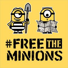 Join me in the movement to #FreeTheMinions at www.freetheminions.com - Despicable Me 3 in theaters June 30.