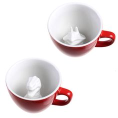 M&S would LOVE this. Perfect Hannukah gift. Dinosaur Creature Cup Set Red, $24, now featured on Fab.