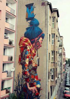 Strret art in Lodz, Poland