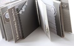 Beautiful gray and white mini album. Click for more photos.... this is really well done.