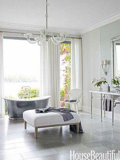A bathroom is turned into a spa-like oasis.
