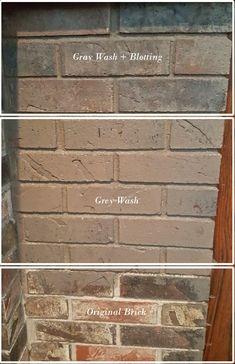 grey wash brick fireplace steps White Wash Brick Fireplace, Painted Brick Fireplaces, Paint Fireplace, Brick Fireplace Makeover, Grey Brick, Home Fireplace, Christmas Fireplace, Fireplace Ideas, Brick Exterior Makeover